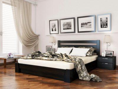 Кровать Селена (массив) - венге (106)