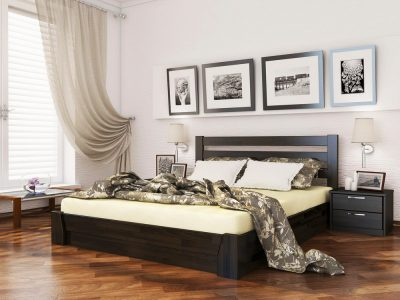 Кровать Селена (щит) - венге (106)