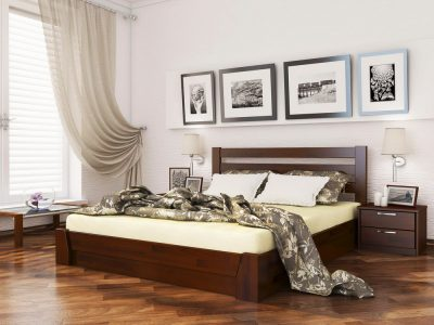 Кровать Селена (щит) - каштан (108)