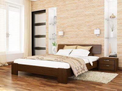 Кровать Титан (массив) - темный орех (101)