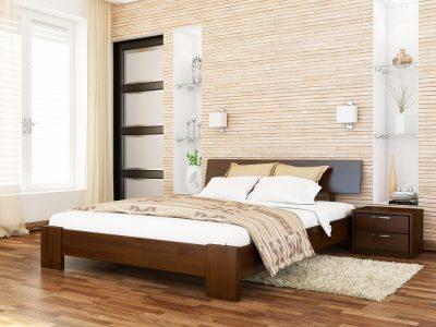 Кровать Титан (щит) - темный орех (101)