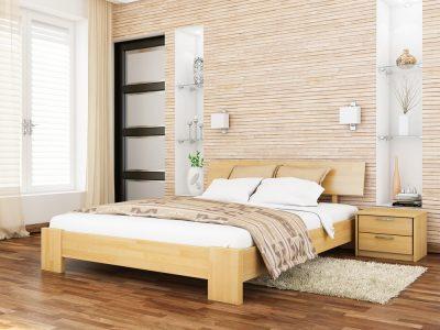 Кровать Титан (щит) - бук натуральный (102)