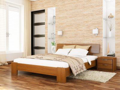 Кровать Титан (массив) - светлый орех (103)