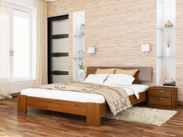 Кровать Титан (щит) - светлый орех (103)