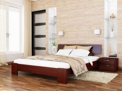 Кровать Титан (щит) - красное дерево (104)