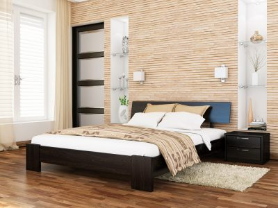 Кровать Титан (массив) - венге (106)