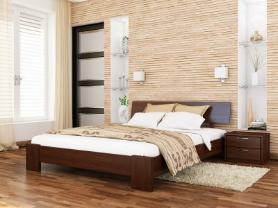 Кровать Титан (массив) - каштан (108)