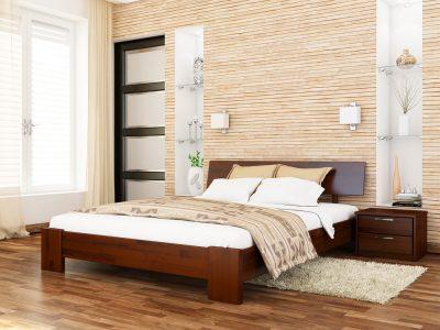 Кровать Титан (щит) - каштан (108)