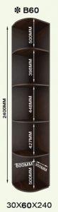 Радиусные полки Ф60 (В60)