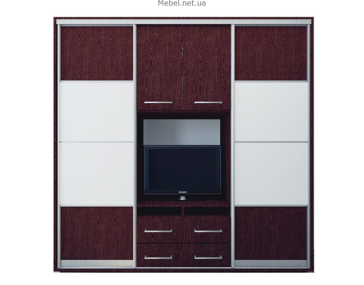 Шкаф-купе с полкой (нишей) под телевизор