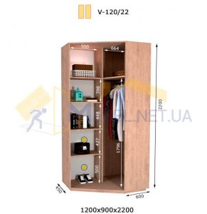 Угловой шкаф V-120/22