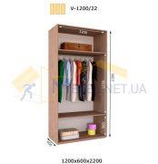 Шкаф приставной V-1200/22