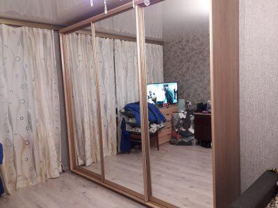 Шкаф-купе 2600*600 V-266 (зеркала, профиль-золото)