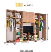 Комплект шкафов с полкой под телевизор VК-346/24 (3460*600)