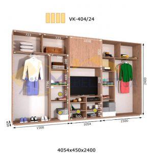 Комплект шкафов с полкой под телевизор VК-404/24 (4060*450)