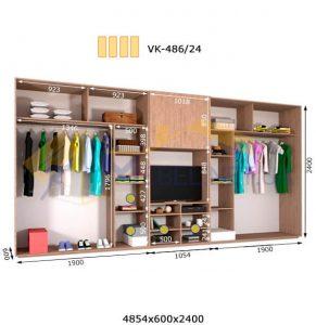 Комплект шкафов с полкой под телевизор VК-486/24 (4860*600)
