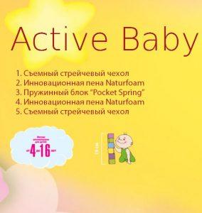 Детский матрас Herbalis Kids Active Baby