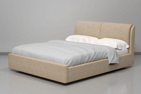 Кровать Афина с мягким изголовьем