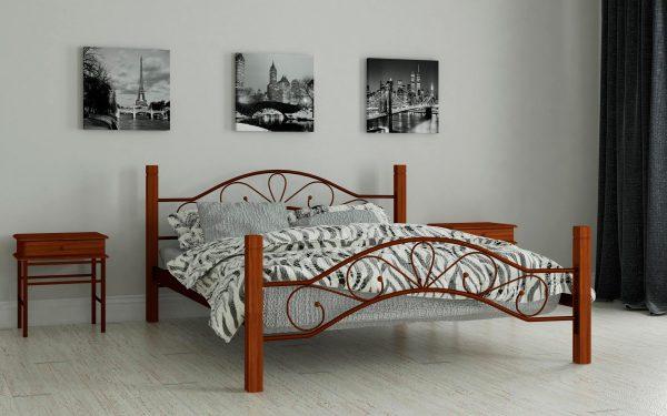Кровать Фелисити - коричневый (2)