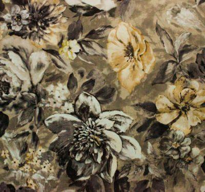 Ткань Фиона Flower Grey - велюр шлифованный