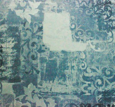 Ткань Фиона Vintage Blue - велюр шлифованный