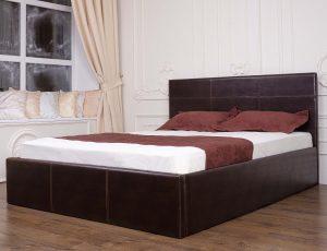 Мягкая кровать Каролина с подъемным механизмом - интерьер