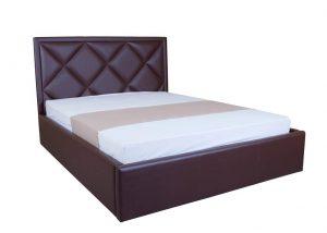 Мягкая кровать Доминик с подъемным механизмом - с матрасом - 1