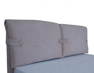 Двуспальная мягкая кровать Мишель с подъемным механизмом - фото 2 - изголовье