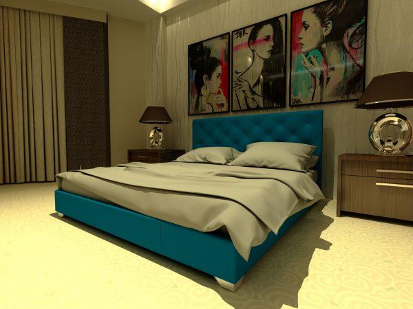 Кровать Морфей - бирюза