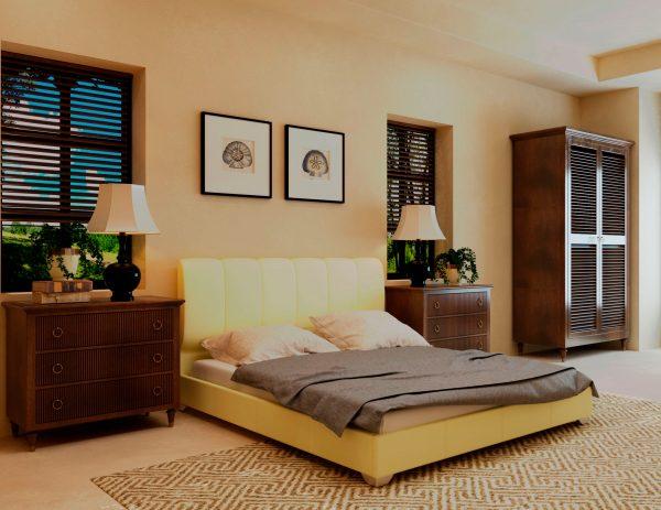 Кровать Олимп - бежевый