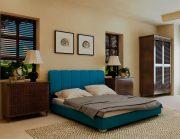 Кровать Олимп - бирюза