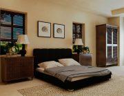 Кровать Олимп - черный