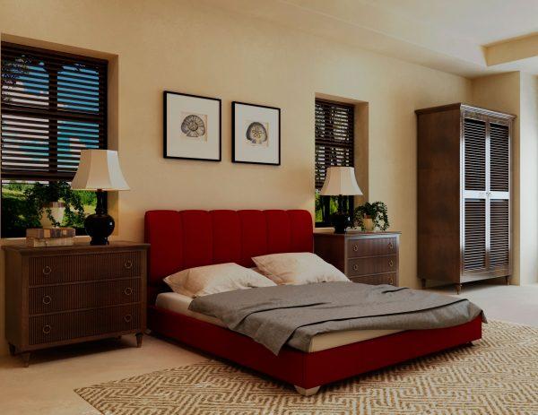 Кровать Олимп - бордо
