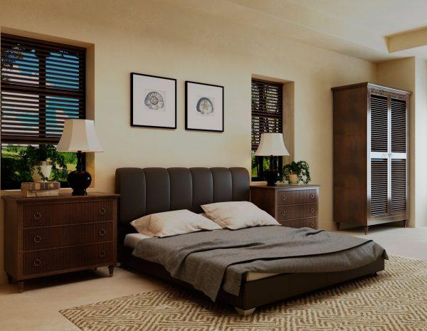 Кровать Олимп - коричневый
