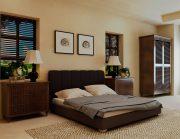 Кровать Олимп - серый
