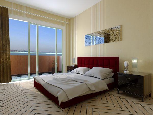Кровать Спарта - бордо