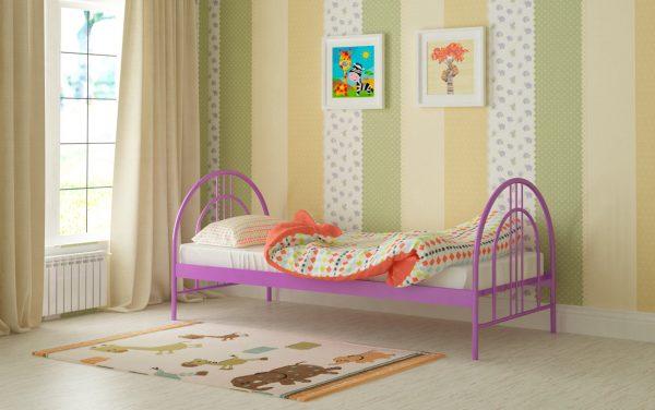 Кровать Алиса Люкс - фиолетовый