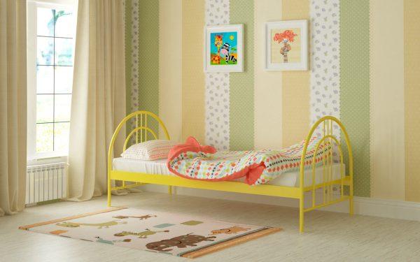 Кровать Алиса Люкс - желтый