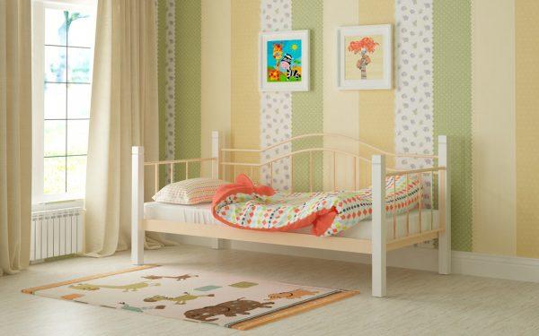 Кровать Алонзо - бежевый