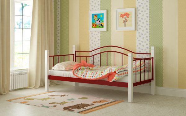 Кровать Алонзо - красный