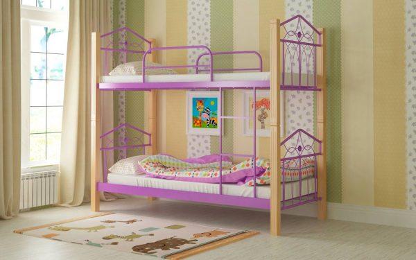 Кровать Тиара - фиолетовый