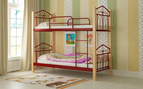 Кровать Тиара - красный