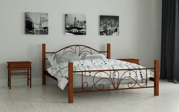 Кровать Изабелла - коричневый