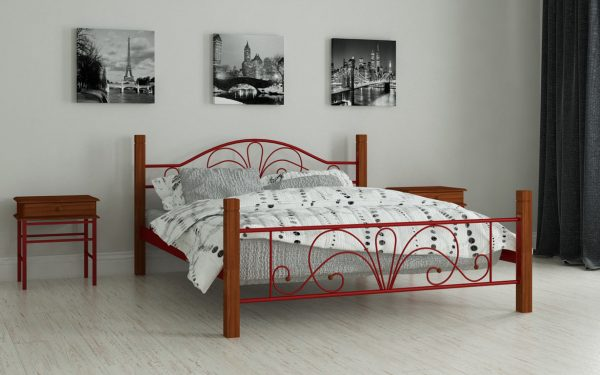 Кровать Изабелла - красный