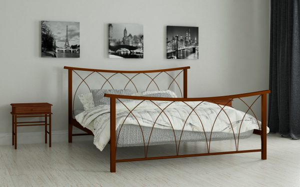 Кровать Кира - коричневый