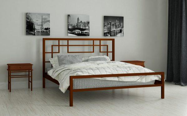Кровать Лейла - коричневый