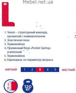 Матраc Sleep&Fly UNO L-logo